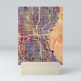 Milwaukee Wisconsin City Map Mini Art Print
