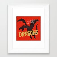dragons Framed Art Prints featuring Dragons by WEAREYAWN