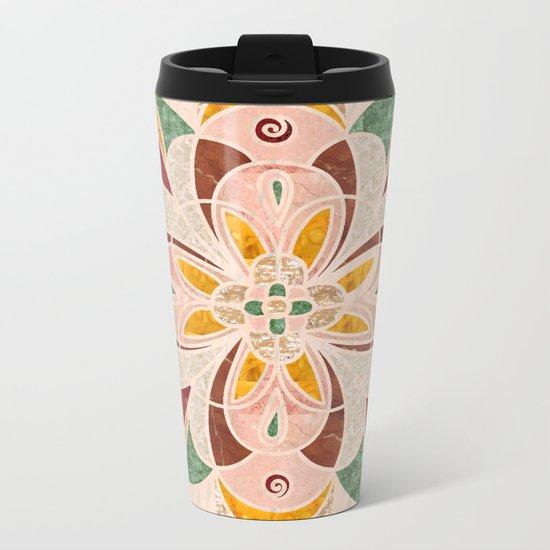 Brown Mandala 04 Metal Travel Mug