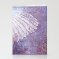 angel wings Stationery Cards featuring WINGS by INA FineArt