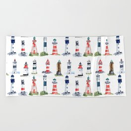 Swedish lighthouses Beach Towel