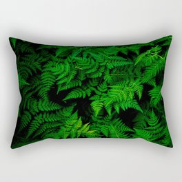 Deep Forest Ferns Rectangular Pillow