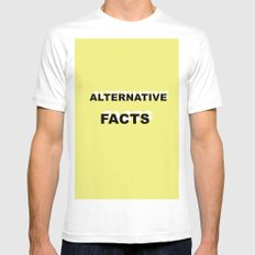 Alternative Facts White Mens Fitted Tee MEDIUM