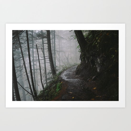 Multnomah Falls, Oregon Art Print