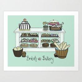 British Bakery Art Print