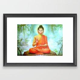 Hey Kids, It's Howdy Buddha Time Framed Art Print
