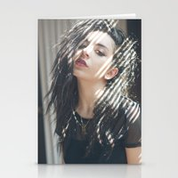 charli xcx Stationery Cards featuring Superlove ~ Charli XCX by Michelle Rosario