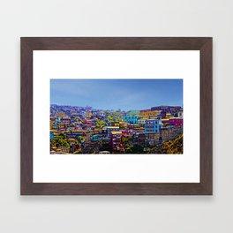 Cerro Artilleria, Valparaiso, Chile Framed Art Print