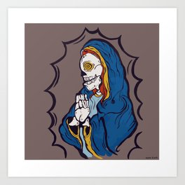 The Ojeros Ticked Virgin Mary  Art Print