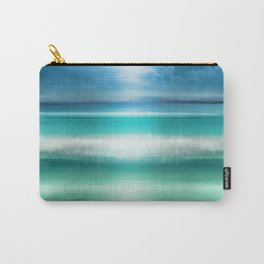 """Blue sky over teal sea South"" Carry-All Pouch"