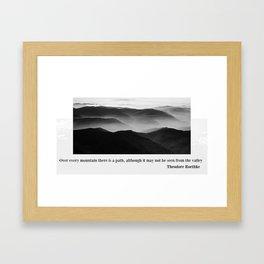 MOUNT EVEREST 004 Framed Art Print
