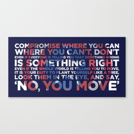 Civil War Quote Canvas Print