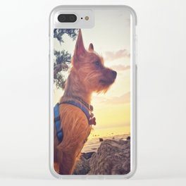Pup at Sunset Clear iPhone Case