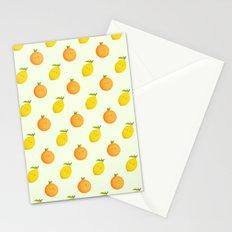 Happy Orange and Lemon Stationery Cards