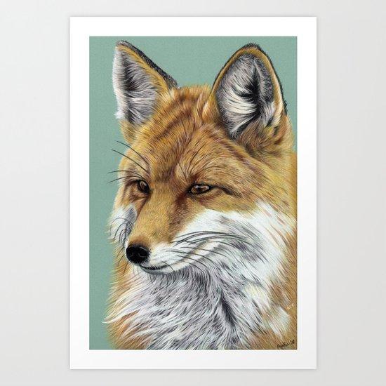 Fox Portrait 01 by aureliaart