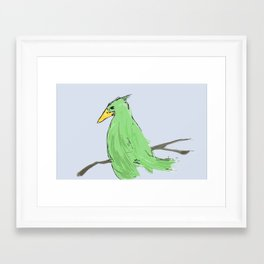 Thinking about life Framed Art Print
