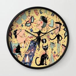 1950's Beatnik Style Wall Clock