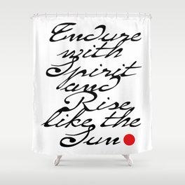 Endure with Spirit Shower Curtain