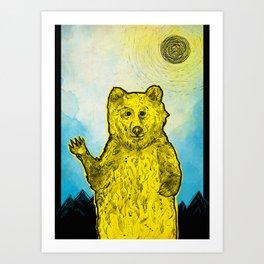 Original Bear Illustration Art Print