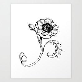 Mom's Poppy Art Print