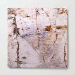 Polished Marble Stone Mineral Abstract Texture 31 Metal Print
