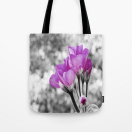 Fuchsia fLOWERS Pop Of Color Tote Bag