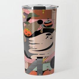 Modern Pizza Bird House Travel Mug