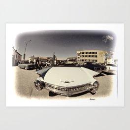 Vintage cabriolet Art Print