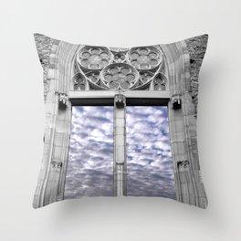 through the windows Throw Pillow