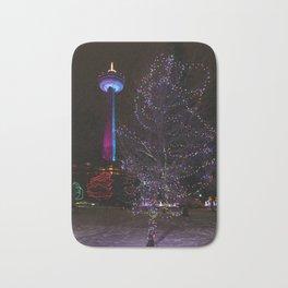 Skylon Tower with Christmas Lights Bath Mat