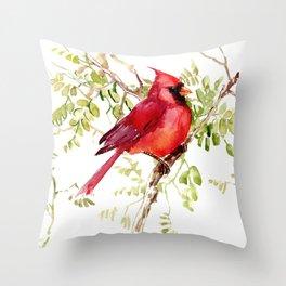 Northern Cardinal, cardinal bird lover gift Throw Pillow