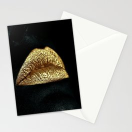 Golden Lips Stationery Cards