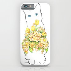 Tall White Cat Slim Case iPhone 6s
