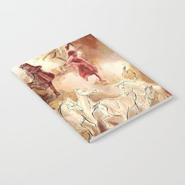 Imagined dream horses children dancing painting Notebook