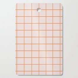 Retro Orange Checks Cutting Board