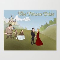 the princess bride Canvas Prints featuring The Princess Bride by Joseph  Griffin Art