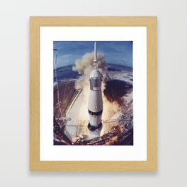 Astronauts Neil A. Armstrong, Michael Collins and Edwin E. Aldrin Jr. 1969 Framed Art Print