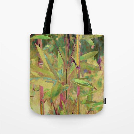 Painted Bamboo Tote Bag