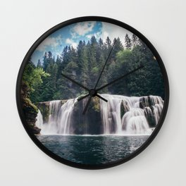 Lower Lewis River Falls Wall Clock