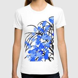 Falling Leaves Blue T-shirt