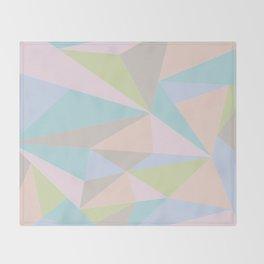 Pastel Triangles Throw Blanket