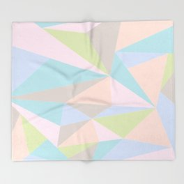 Pastel Triangles Throw Blanket