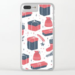 Christmas Gift Sketch Clear iPhone Case