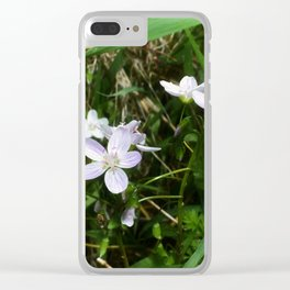 Spring Beauty 05 Clear iPhone Case