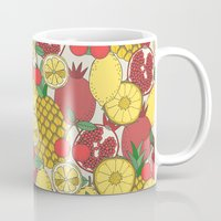 fruit Mugs featuring Fruit by Valendji