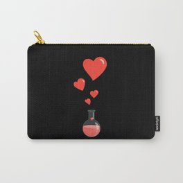 Love Chemistry Flask of Hearts Carry-All Pouch