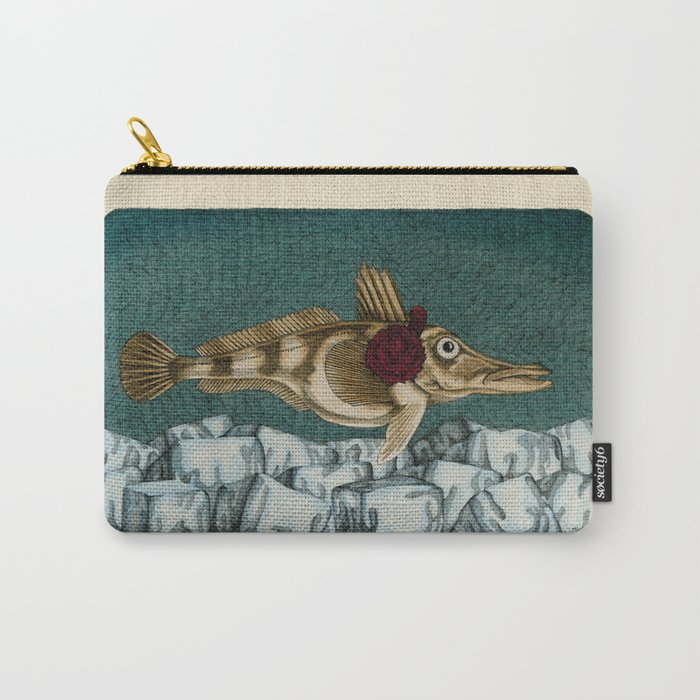 The Ice Fish Cometh Carry-All Pouch