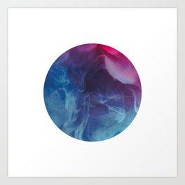 blue purple pink smoke - colorful Art Print