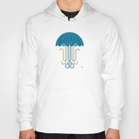 jelly fish Hoodies featuring Jelly the Fish by Kirsten Ulve