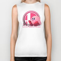 super smash bros Biker Tanks featuring Kirby - Super Smash Bros. by Donkey Inferno